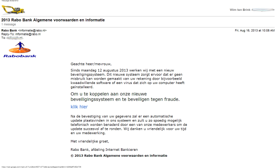 Katje Mail - 2013 Rabo Bank Algemene voorwaarden en informatie